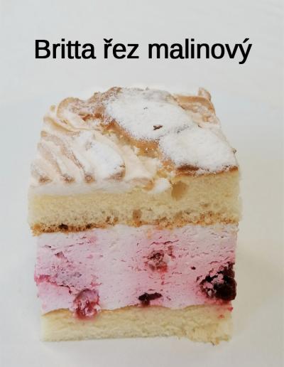 Britta řez malinový - Cukrárna Jiřina