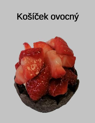 Košíček ovocný - Cukrárna Jiřina