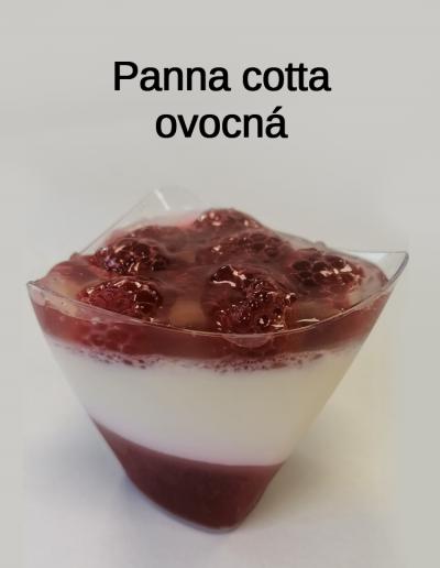 Panna cotta ovocná - Cukrárna Jiřina