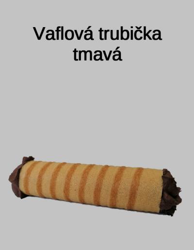 Vaflová trubička tmavá - Cukrárna Jiřina